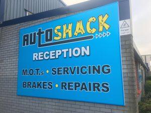 Auto Shack Sign
